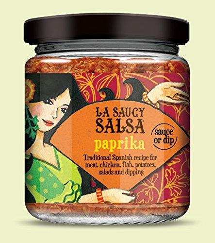 LA SAUCY SALSA - Salsa Tradicional Andaluz - Paprika - para el Pan, Carne, Pescado, Ensaladas - Producto Vegano - 170 gr: Amazon.es: Alimentación y bebidas