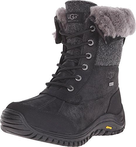 UGG Women's Adirondack Boot II Black Leather 7 B(M) for sale  Delivered anywhere in USA