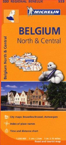 Noord-en Midden-Belgie / Belgique Nord Et Centre (Michelin Regional Maps)