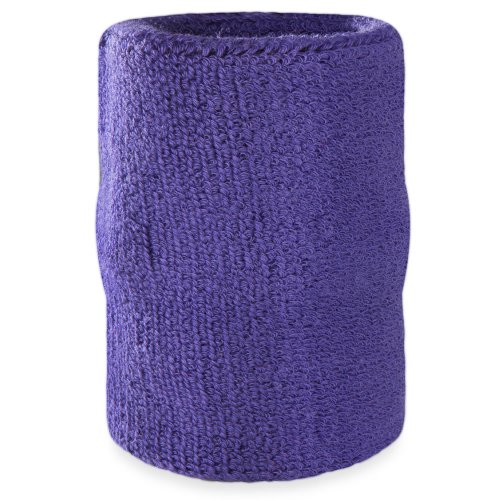 Richard Simmons Costume Ideas (Suddora Arm Sweatbands - Athletic Cotton Armbands for Sports (Purple))