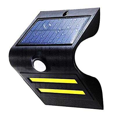 Solar Light-LIBERLUC 5 LED Motion Sensor Outdoor Wireless Solar Powered Wall Light With Background Light For Garden, Patio, Deck, Yard,Driveway;Two Years Warranty