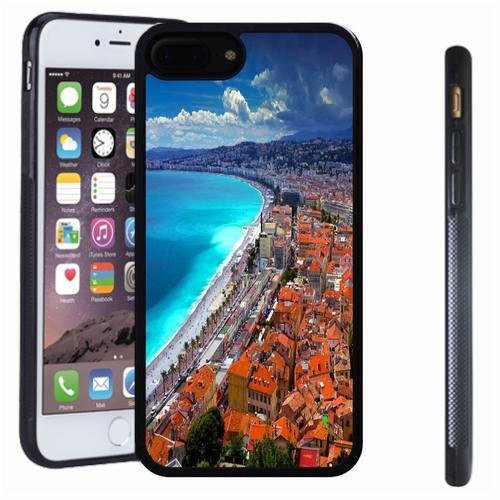 iphone 7 8 Plus case, SoloShow(R) Slim Shockproof TPU Soft Case Rubber Silicone for Apple iphone 7 8 Plus [seaside city]