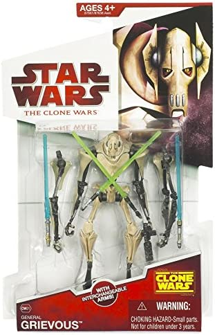 Star Wars Clone Wars General Grievous New Packaging Figure Toys Games