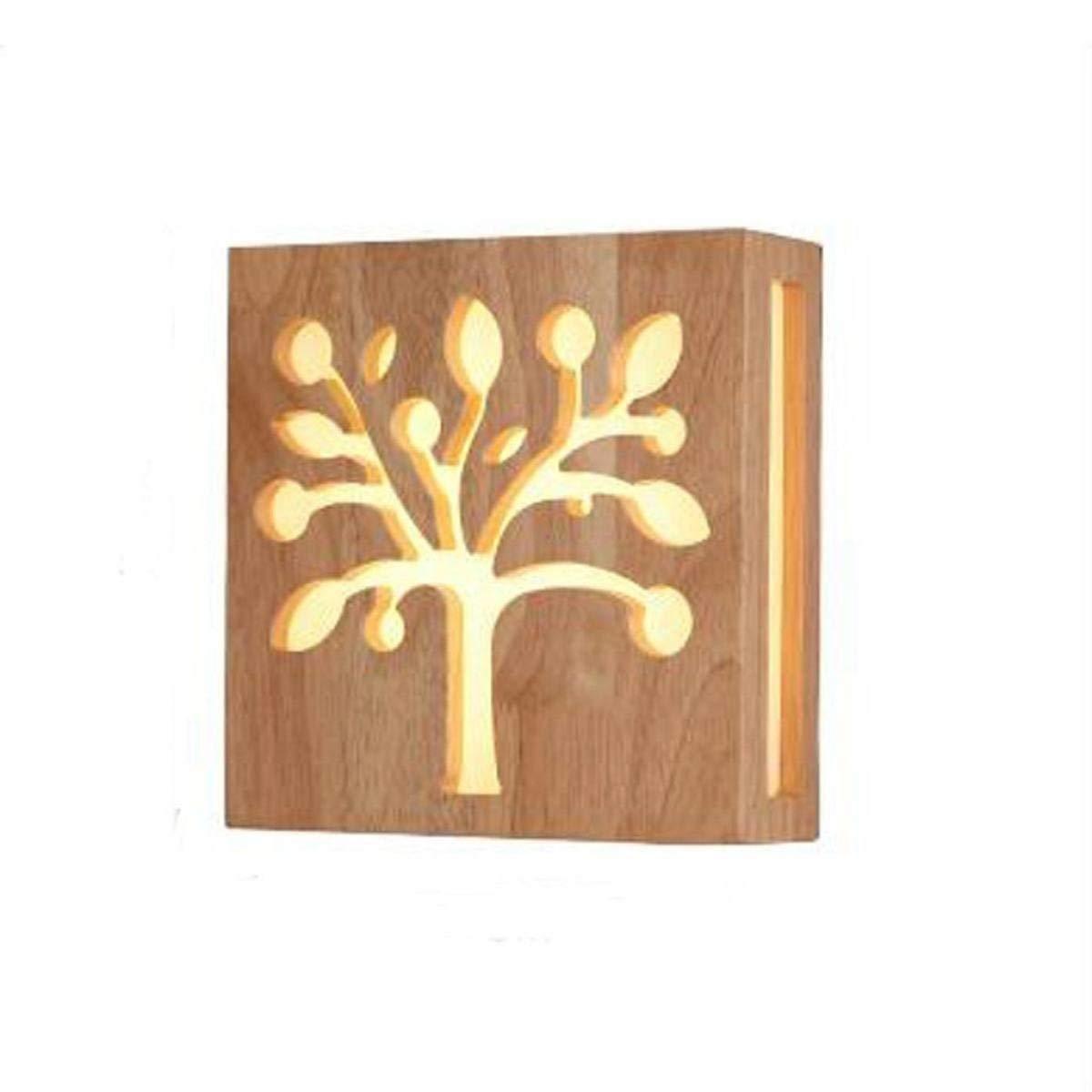 Eeayyygch Wandleuchte Solid WoodSimple Gang Treppenhaus Schlafzimmer Wohnzimmer