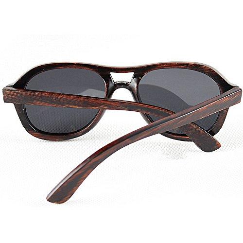 mano ULTRAVIOLETA de sol Adult redondas las los polarizadas de gafas Gafas retro madera gafas a Eyewear de bambú de de protección la de Gafas que sol conducen Sungla sol Beach sol hombres hechas de de F7rZFqg