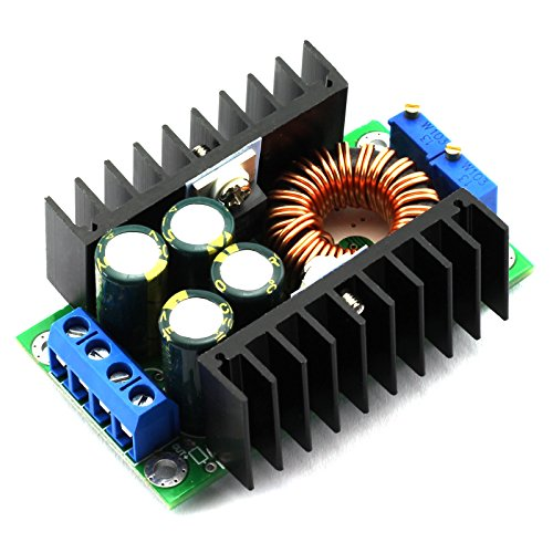 DZS Elec 9A MAX DC Step Down Buck Converter Constant Current Converter 24V to 12V Adjustable Regulator Module 7V-32V to 0.8V-28V Power Supply Module ()