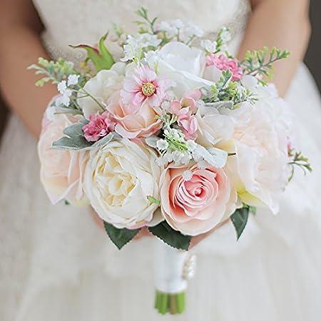 Bouquet de mariée avec pivoine