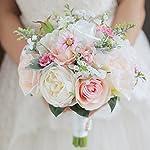 IFFO-custom-bride-hand-holding-bouquet-bouquet-bride-bridal-bridesmaid-wrist-flower-peony-flower-white-rose-petal-DIY-decoration