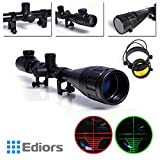 Ediors® Optics Hunting Rifle Scope 3-9x40EG Aoeg Red/green Illuminated Mil-dot Reticle Crosshair Gun Scope with Ring Mounts and Lens Cover Illuminated Level: 5 Intensity (Red) and 5 Intensity (Green) Review