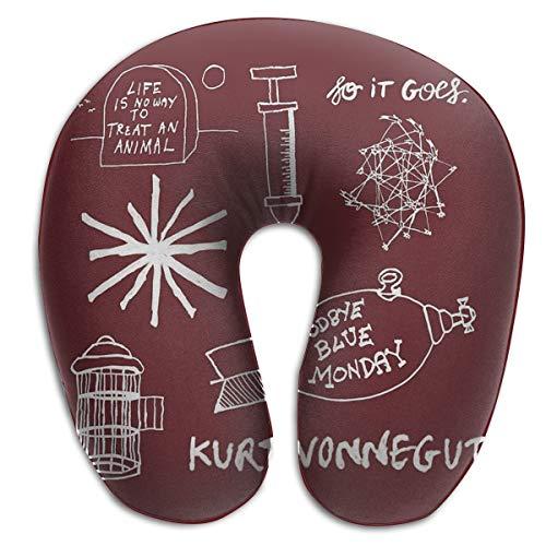Osvbs Ode to Vonnegut - Pattern - White Memory Sponge U-Shaped Neck Cushion for Home, Travel, 11.81