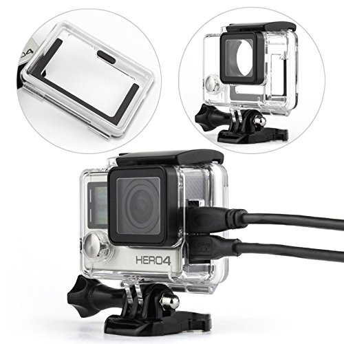 WiserElectron Protective Housing Case Open Side With Lens and skeleton bckdoor For Gopro Hero 4 3+ Camera