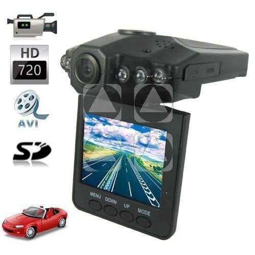 TELECAMERA VIDEOREGISTRATORE DVR AUTO HD MONITOR LCD 2.5 6 LED 720P OEM