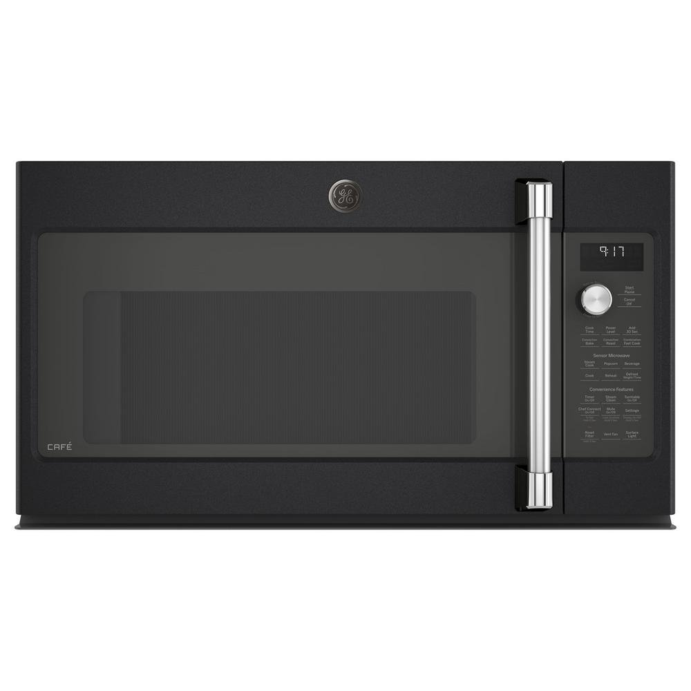 GE cafe CVM9179ELDS 30 Inch Over the Range Microwave Oven with 1.7 cu. ft. Capacity, 950 Cooking Watts in Black Slate