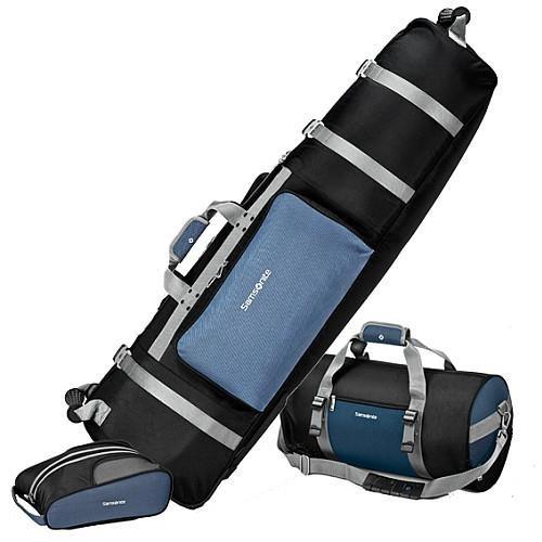 Samsonite Golf Deluxe 3 Piece Travel Set, Blue/Black