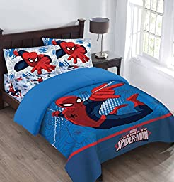 Marvel The Spiderman Webbed Wonder Full Comforter Set with Fitted Sheet