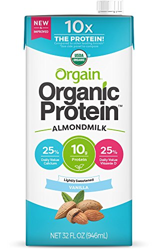 Orgain Organic Protein Almond Milk, Lightly Sweetened Vanilla, 32 Ounce, 1 (Milk Free Garden)