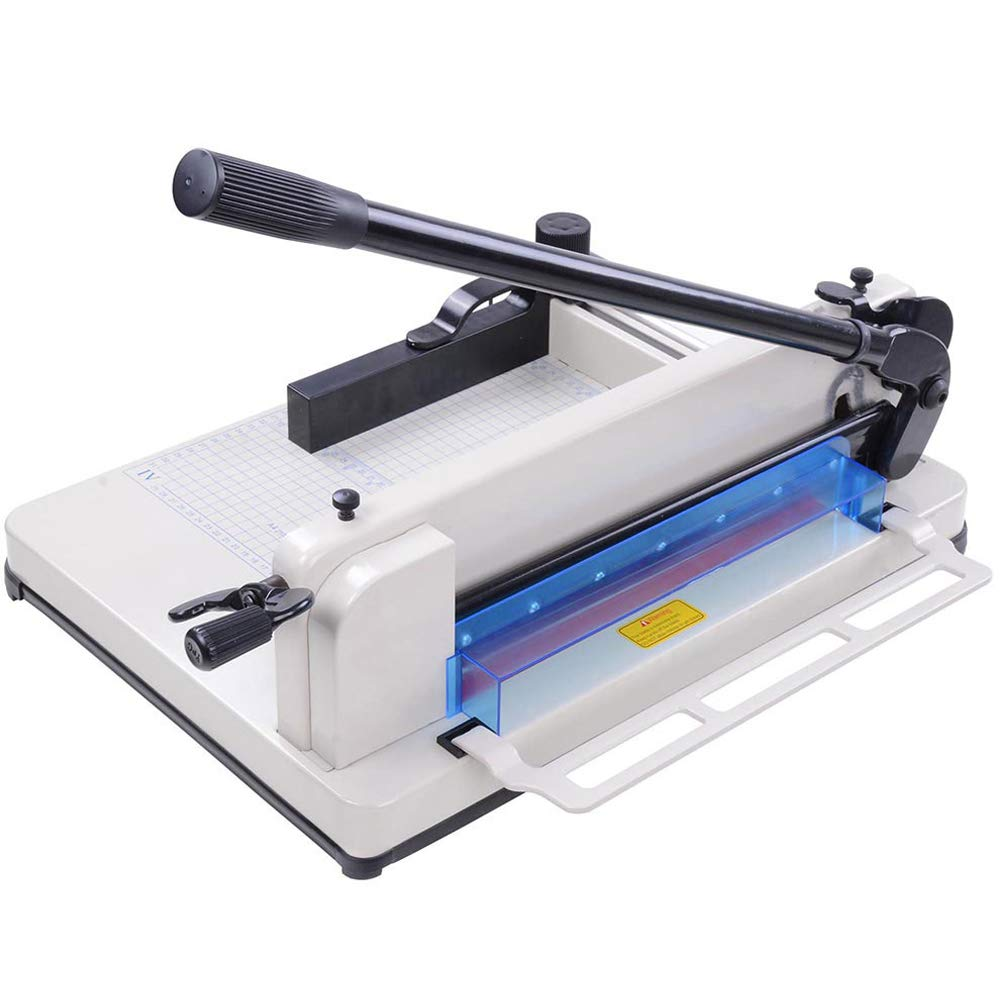 Instahibit Industrial A4 Paper Cutter 12 inch Cut Length Trimmer 400 Sheet Capacity Guillotine Stack Heavy Duty Steel by I Instahibit