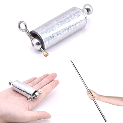 Doowops Metal Appearing Cane Magic Prop - Pocket Bo Staff Magic Wand for Professional Magicians Stage Close-up Magic Tricks: Toys & Games
