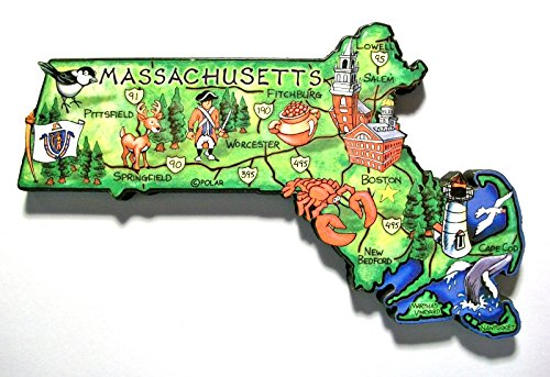 Massachusetts the Bay State Artwood Jumbo Fridge ()