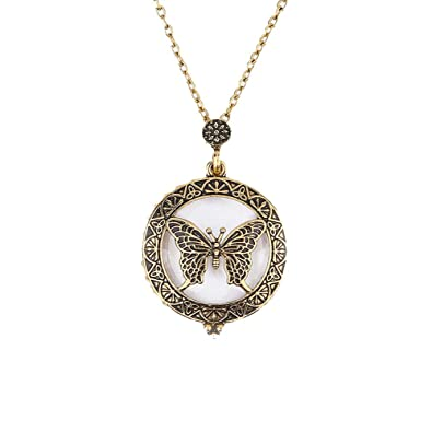 Amazon.com: LiLiMeng Lupa colgante collar lupa cristal ...
