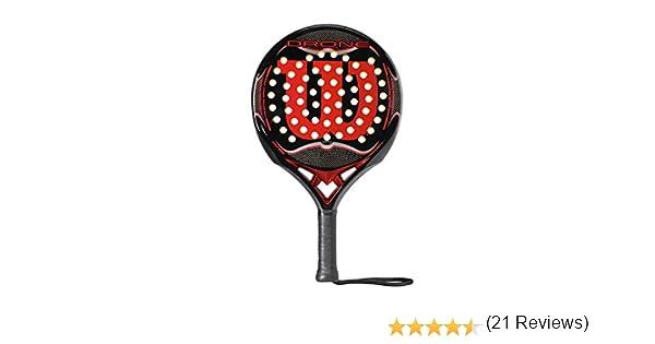 Wilson Drone Paddle - Raqueta, Color Negro/Rojo, Talla NS: Amazon ...