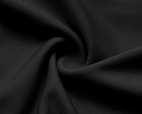 T ZiXing Dos Courtes Femme Chemisier Hauts Nu Col Blouse Manches V Shirt Noir trwtqUfx