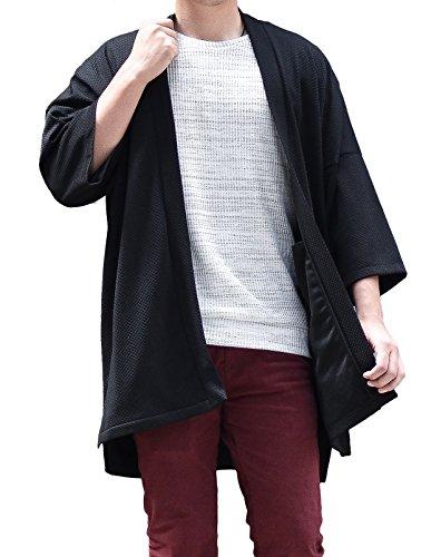 LOST IN BKK Men's Long Oversized Kimono Cardigan Noragi Street Jacket Haori Man Yukata Coat - Chinese Jacket Mens