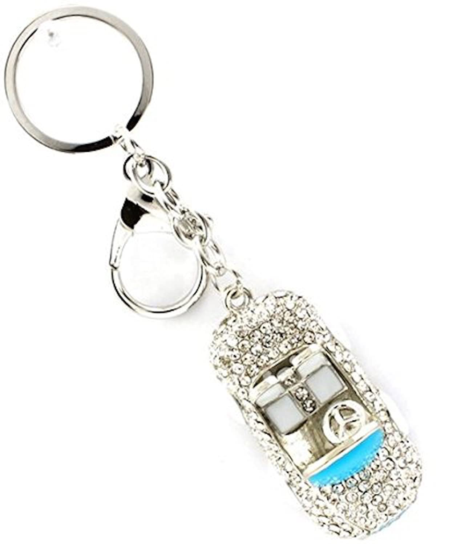 Crystal Sports Car Key Chain D10 Blue Clear Convertible