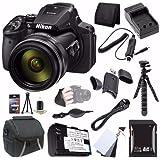6Ave Nikon COOLPIX P900 16MP Digital Camera (International Model No Warranty) + EN-EL23 Battery + External Charger + 32GB SDHC Card + Case + Mini Flexible Tripod + Saver Bundle