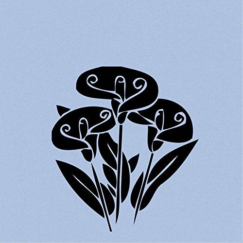 (Three Calla Lily Flowers (Black 4