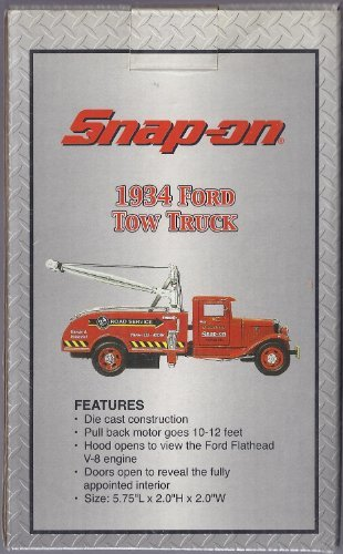 Snap-on Tools 1934 Ford Tow Truck Die Cast 1:43 Scale