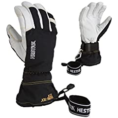 A long-cuffed and durable alpine ski glove for those who need a warm and dry glove, in really tough weather conditions, at a high activity level. Best in test in several ski magazines. Features: Handcuffs, Snow Lock, Velcro Closure, Carabiner...