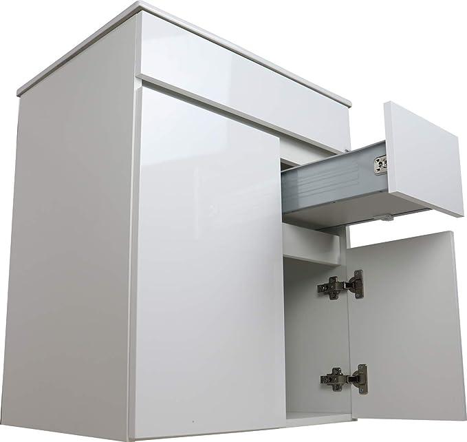 Crocket Mueble de Baño Clif + Lavabo Cerámico + Espejo - Cajones ...