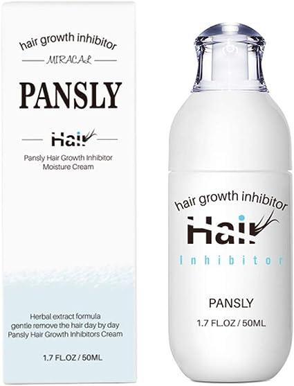 PANSLY 50ml Crema inhibidora del crecimiento del cabello Crema depilatoria corporal Crema hidratante Piernas Axila Parada del vello facial: Amazon.es: Belleza