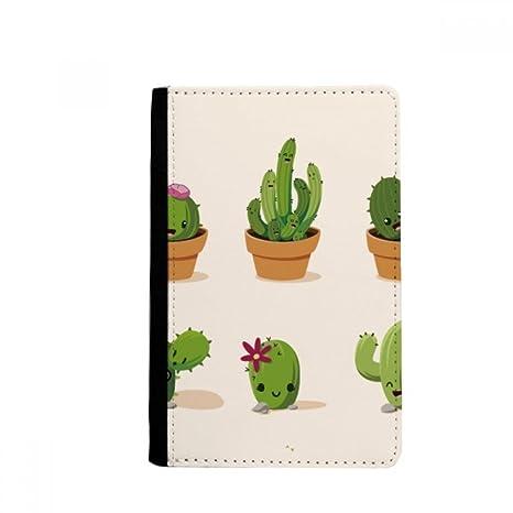beatChong Suculentas Cactus En Macetas Monedero De La Tarjeta Caso De La Cubierta Cartera De Viaje