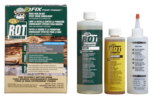 PC Products 240618 PC-Rot Terminator Two-Part Epoxy Wood Hardener, 24 oz in Two Bottles, (Epoxy Deck Coatings)