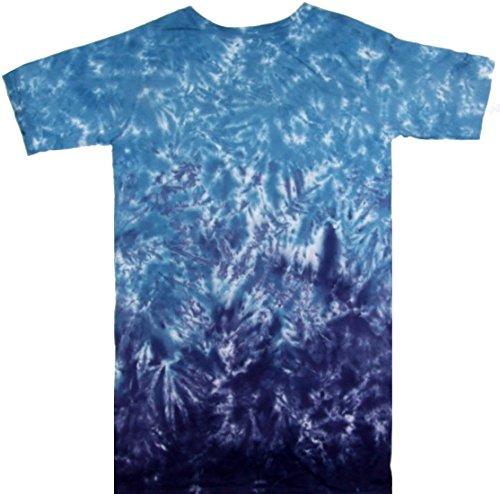 Tie Dyed Shop - Blues Horizontal Crinkle Ladies Tie Dye Dress