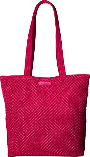 Vera Bradley Women's Iconic Tote Bag Passion Pink One Size Microfiber Two Pocket Tote