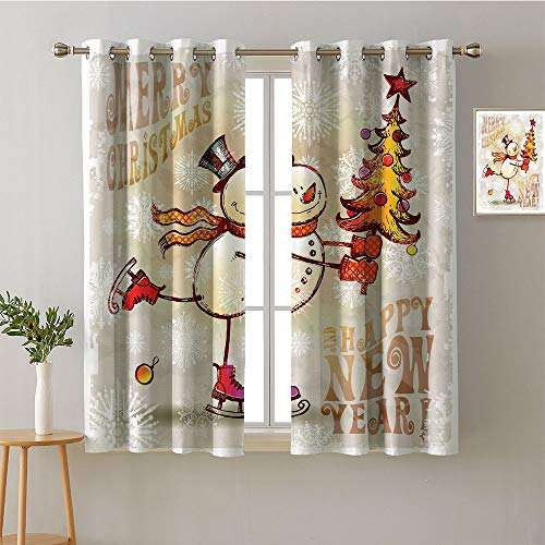 Suchashome Curtain for Bedroom Grommets Sliding Darkening Curtains Decorative Darkening Curtains Modes Darkening Curtains Room/Bedroom(2 Pieces, 42