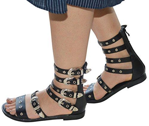 Sintético Negro Ciara Mujer Sandalias de 1wx4Uq0w