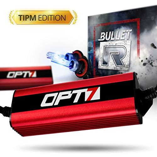 Reflector System Deep - OPT7 Bullet-R H13 Bi-Xenon HID Kit - TIPM Resistor Bundle - All Bulb Sizes Colors [10000K Deep Blue Xenon Light]
