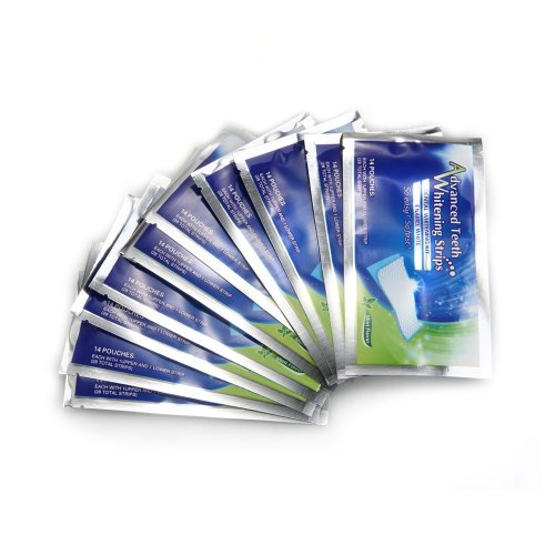 14 Packs / 28 pcs professionnels dents bandes blanchissantes blanchiment Whitener