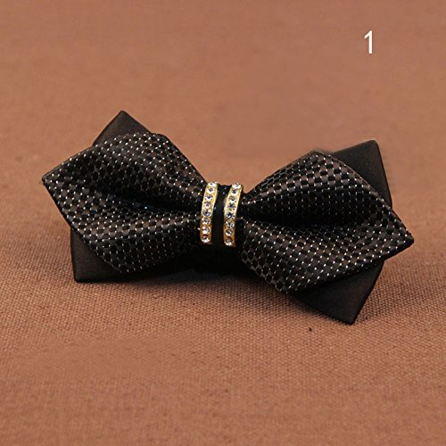 JJUJU MALL-Men's Bling Crystal Metal Bowtie Decoration Bow Tie Accessories Wedding Party (Daily Blast Energy Elixir)