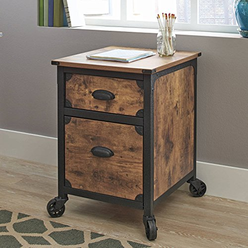 Very Sturdy, Easy to Assemble, Functional, Expensive look, Antique Country /Cottage Style, Rustic Country File Cabinet, Weathered Pine Finish + Expert Guide - Cottage Style Cabinets