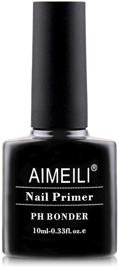 AIMEILI Primer Uñas Nail Primer Bonder Base Preparación de Uñas Deshidratador Primer Para Uñas Esmalte Permanente sin Necesidad de Lámpara UV/LED Esmalte de uñas de Gel Para Diseño de Arte 10ML