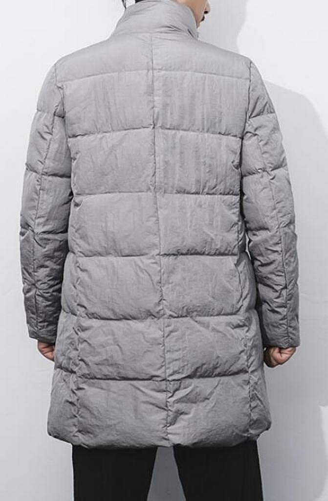 ARTFFEL Mens Winter Solid Color Warm Chinese Style Down Quilted Coat Jacket Outwear