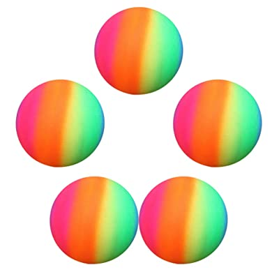 Garneck 5pcs Rainbow Balls 22cm Thickened Kickball Children Toy Play Ball Flapping Ball Rainbow Balls for Outdoor Indoor Playground: Sports & Outdoors