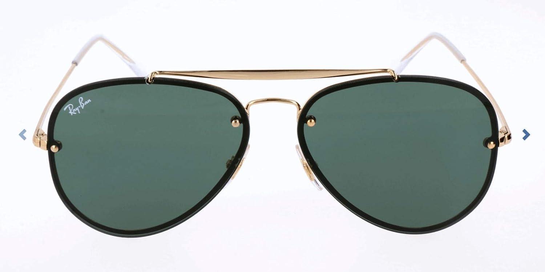 Ray-Ban 0Rb3584N, Gafas de Sol Unisex adulto, Marrón (Gold/Green Classic), 58