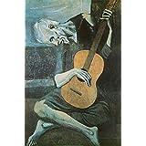 Studio B Old Guitarist Poster