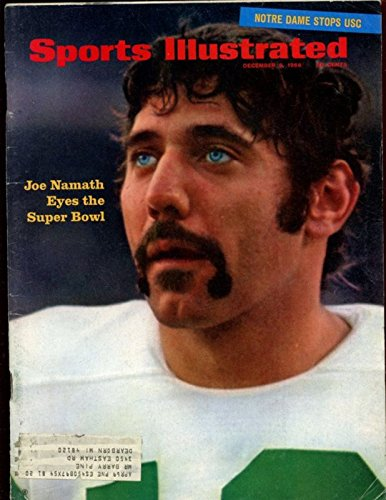 Dec 9 1968 Sports Illustrated Magazine With Joe Namath Jets Cover Ex+